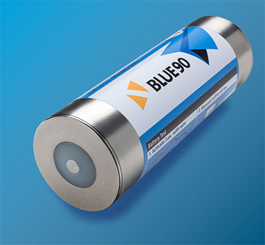 BLUE90 is an ULB with an operating time of 90 days after activation. The lithium content of the battery is less than 1 gram, so there is no restriction for transport.