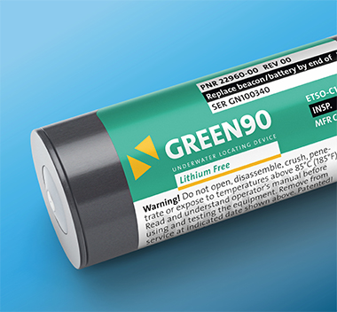 GREEN90 is a lithium-free ULB with an operating time of 90 days after activation.