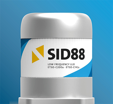 SID88 is a low frequency ULB for aviation, transmitting on a frequency of 8.8 kHz. The beacon is intended to be installed on the aircraft structure.